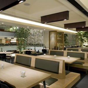 A Modern Cafeteria In A Commercial Building